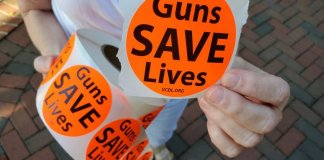 guns save lives stickers
