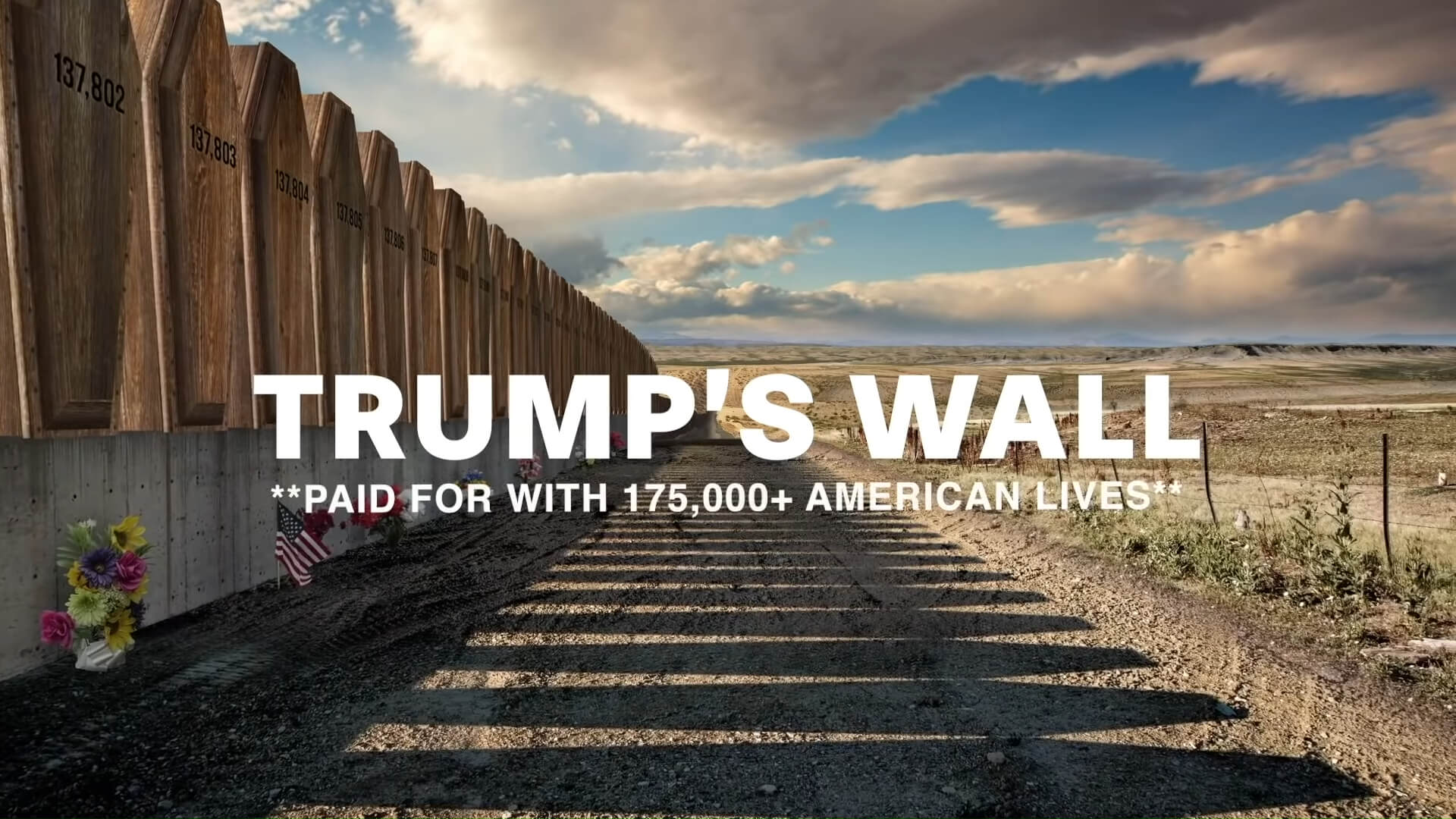 Ad portraying Trump's 'border wall' of caskets hits Arizona airwaves